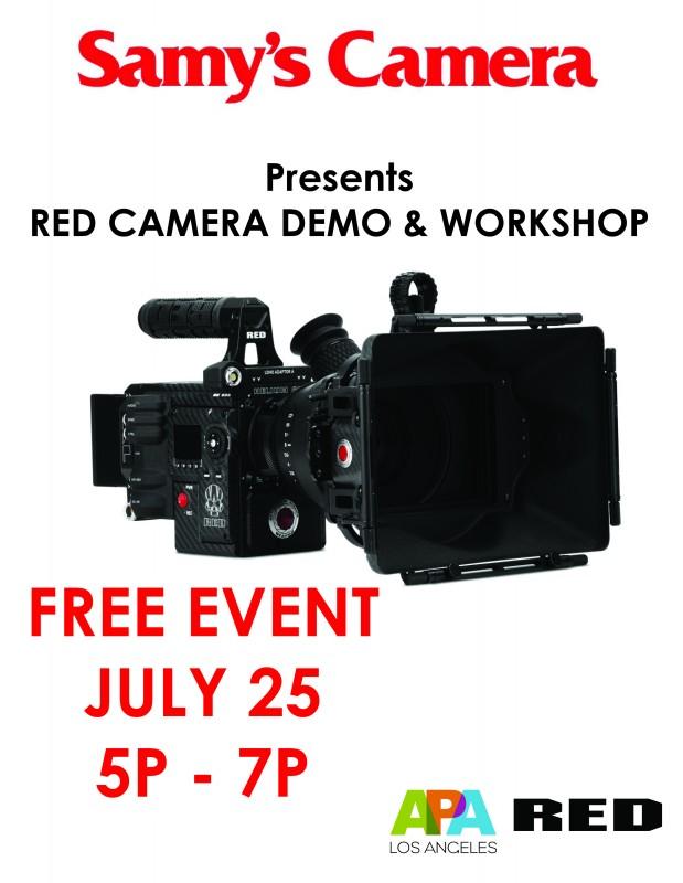 RED Camera Demo & Workshop Presented by Samy's Camera and APA Los